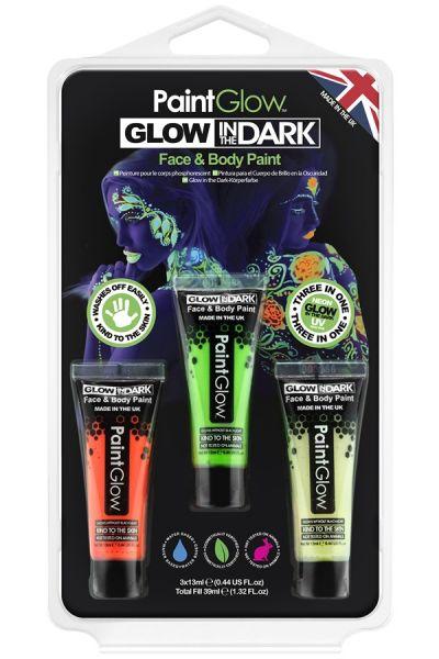 PaintGlow glow in the dark Schminke