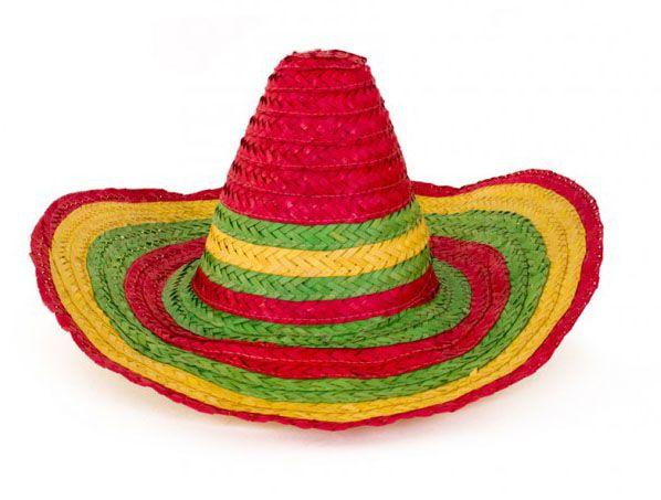 Mexikanischer Sombrero bunter Strohhut