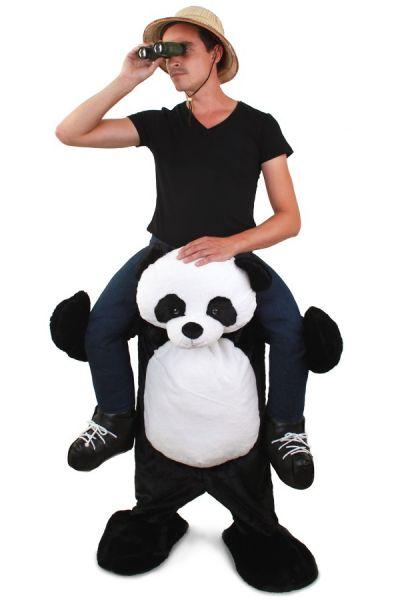Huckepack lustiges Kostüm getragen von Panda