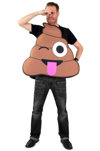 Emoticon Scheißluft Kostüm Imoji