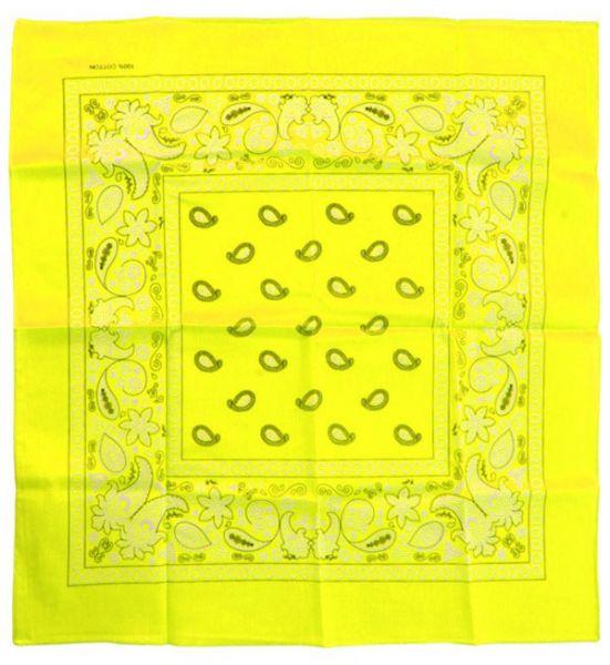 Fluor gelbe Taschentücher Bandana mit Muster
