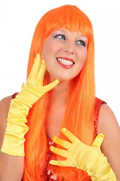 Perücke Damen trendy langen orange Haar