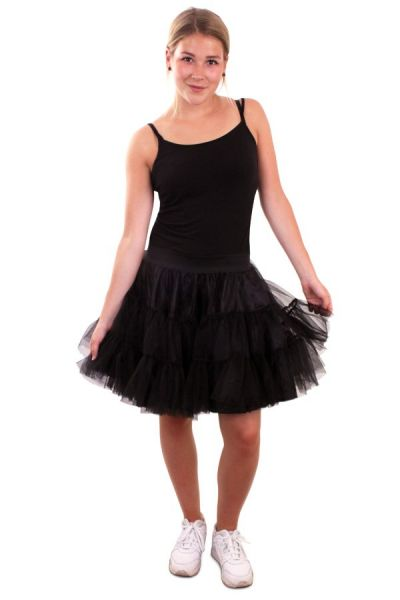 Petticoat schwarz 3 Schichten