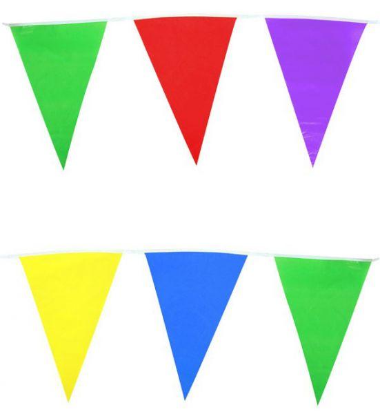 Farbige Fahnen Linie Mischungsfarben 60m