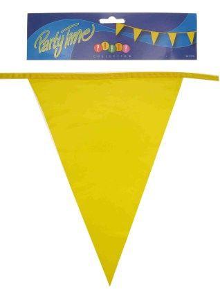 Fahnenlinie gelbe 50m Partydekoration
