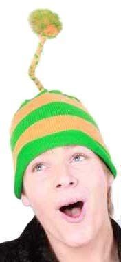 Strickmütze grün orange