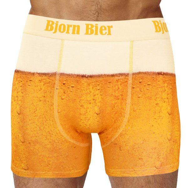 Bier Boxershorts Herren Unterhose Shorts Party-Gag lustig JGA Geburtstags-Geschenk Wäsche