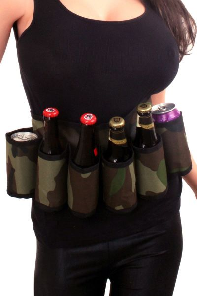 Militärgürtel Getränk Gürtel Tarnaufdruck