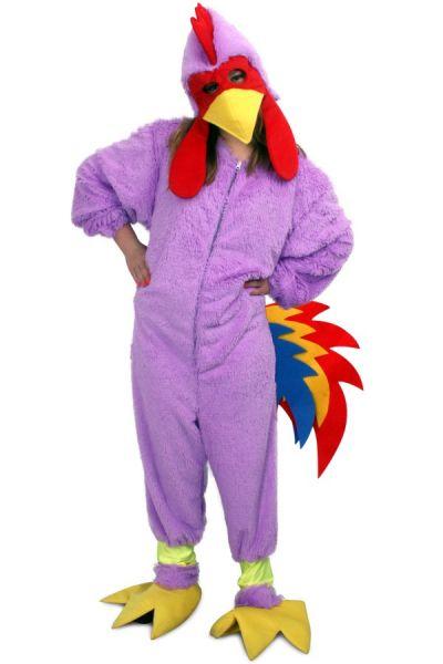 Karnevalskostüm rosa verrücktes Huhn Plüsch Kind