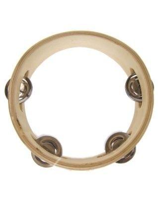 Tamburin aus Holz 15cm