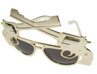 Mafiagläser mit 2 Pistolen