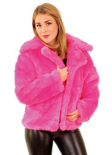 damen pelzmantel pink faschingskost me karnevalskost me. Black Bedroom Furniture Sets. Home Design Ideas