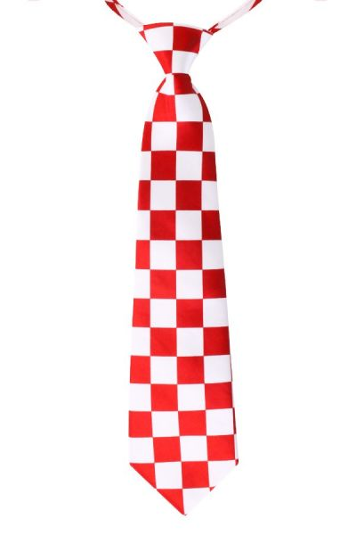 Kölner Krawatte rot und weiß kariert