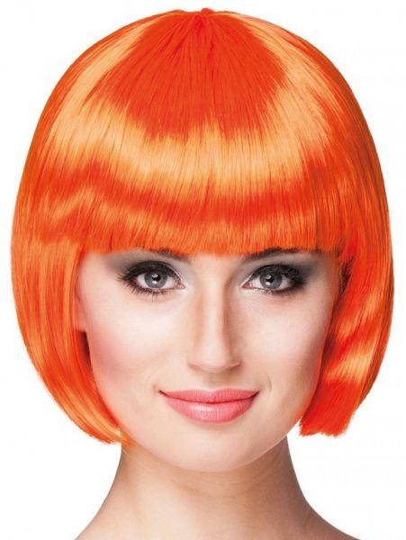 Perücke orange mit Bobline