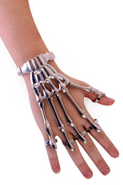 Armband Skelett Fingern