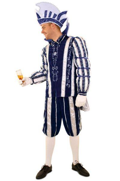 Prinz Karneval Kostüm Anzug blau