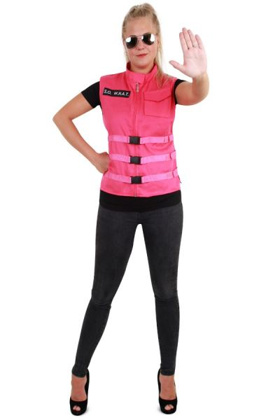 S.O. W.H.A.T Rosa Damen Weste pink