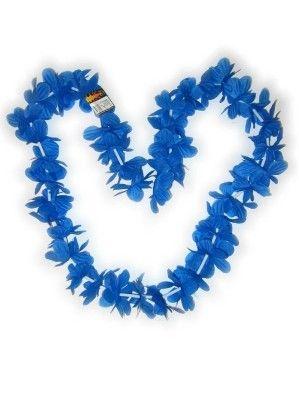 Hawaii Blüten blau Halskette Kränze 12 Stück