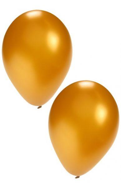Goldene Heliumballons