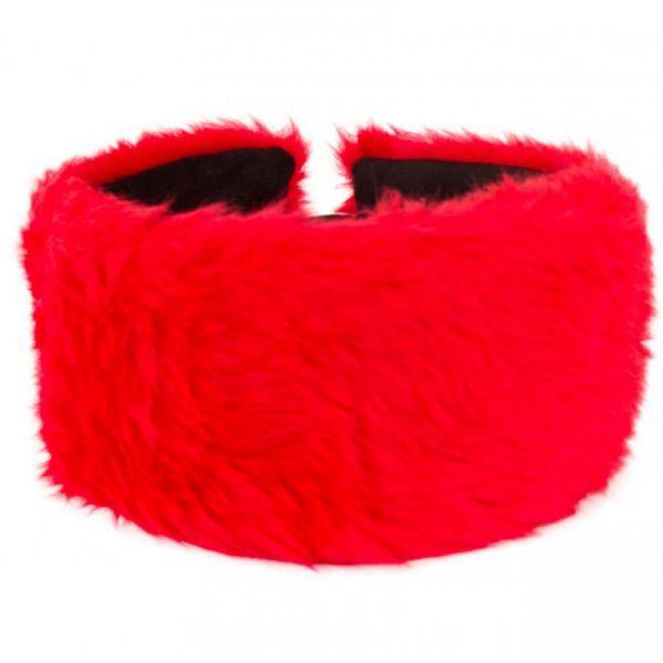 Stirnband rot Plüsch