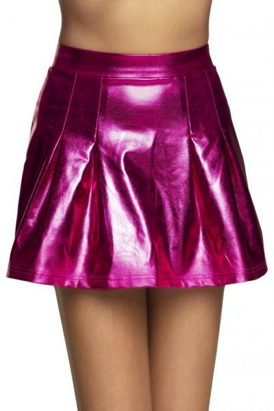 Minirock Glänzendes Pink