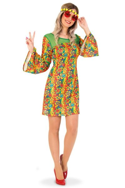 Buntes Blumen Hippie-Kleid