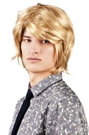 Herren Perücke 70er 80er Jahre blond