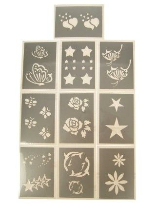 PXP glitter template 10 pieces Series C 6.5 x 9.5 cm