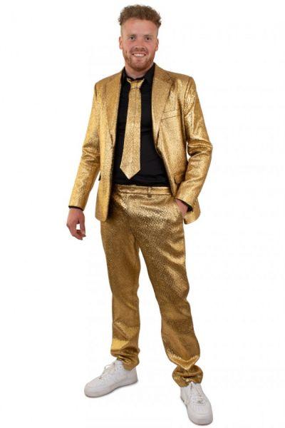 Gold auffälliges metallisches Disco-Kostüm