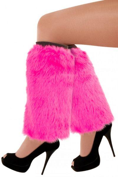 Beinlinge pink plusche