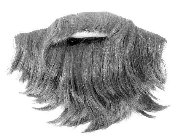 Zwerg Bart mit Schnurrbart grau