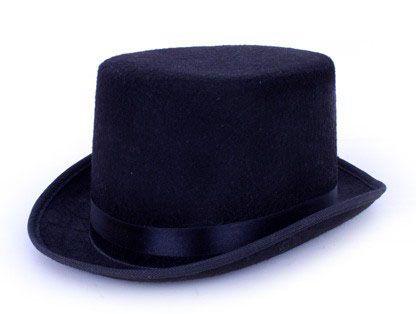 Zylinder-Hut Hut schwarz