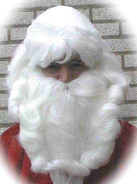 Weihnachtsmann Haar Set Perücke Bart und Schnurrbart