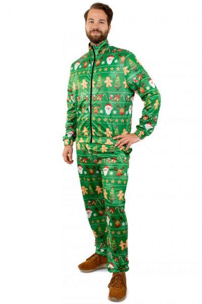 Trainingsanzug Frohe Weihnachten grün