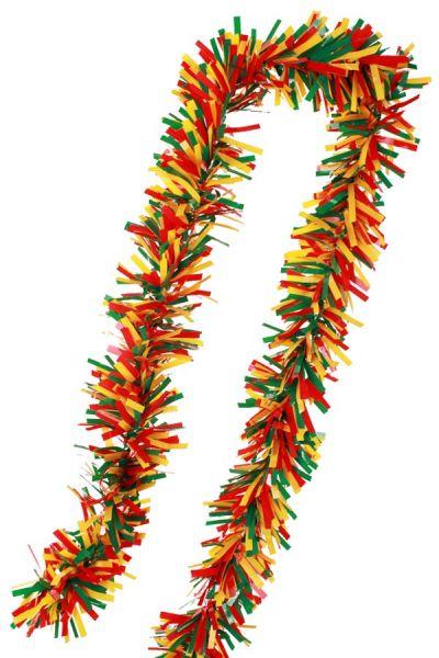 PVC-Folie wird Girlande rot gelb grün Karneval feuerfest