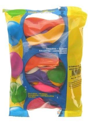 50 Stück farbig sortiert, Heliumballons nr 12