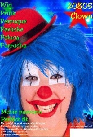 Clown Perücke Blau