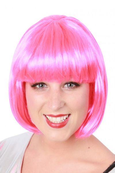 Perücke Bobline pink