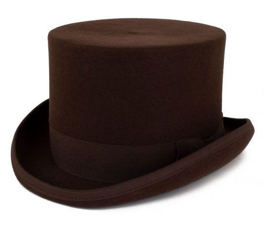 Brauner Zylinder Hut