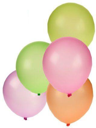 Luftballons farbig sortiert 50 x 10-Zoll NEON FLUOR