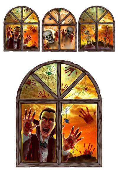 Halloween 3 D Fensteraufkleber