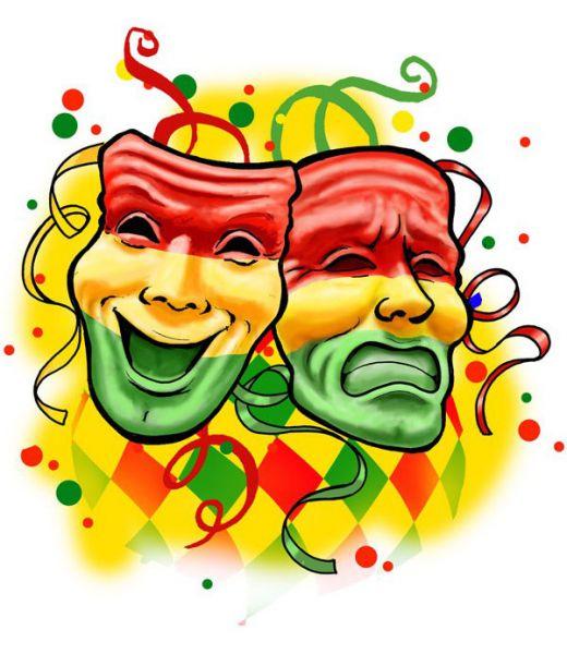Fensteraufkleber Lächeln und Tränen rot gelb grün