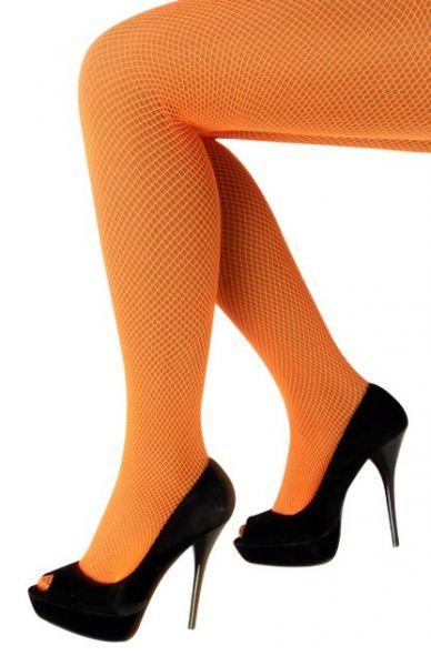 Netzstrumpfhose fluo orange