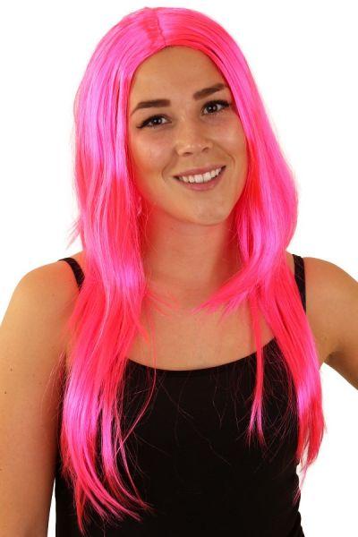 Perücke lange rosa Haare