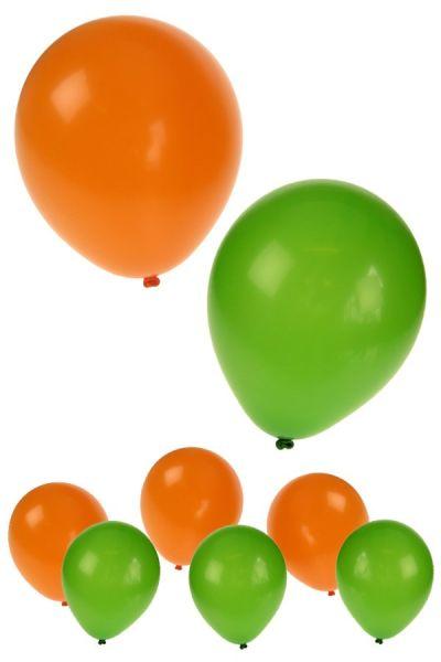 Heliumballone orange grün