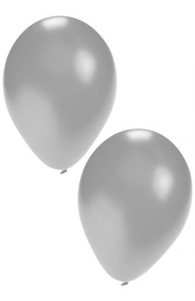 Silberne Heliumballons