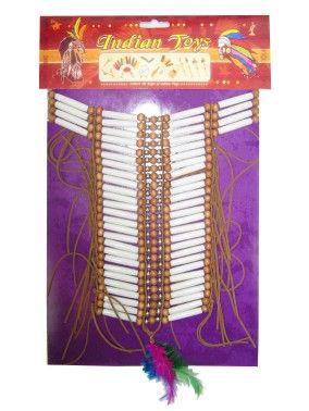 Indianer Halsband Rohre Perlen Medium