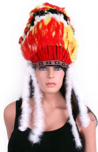 Indianer Häuptling Kopfschmuck mit Schwänze