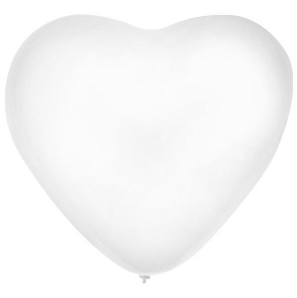 Ballonherz x 36 weiß 32 cm