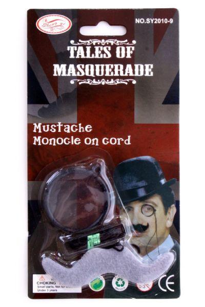 Detektiv Sherlock Holmes Monocle mit Schnurrbart